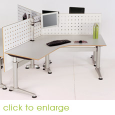 Workstations and Sit/Stand desks - supplied by Projex Furniture